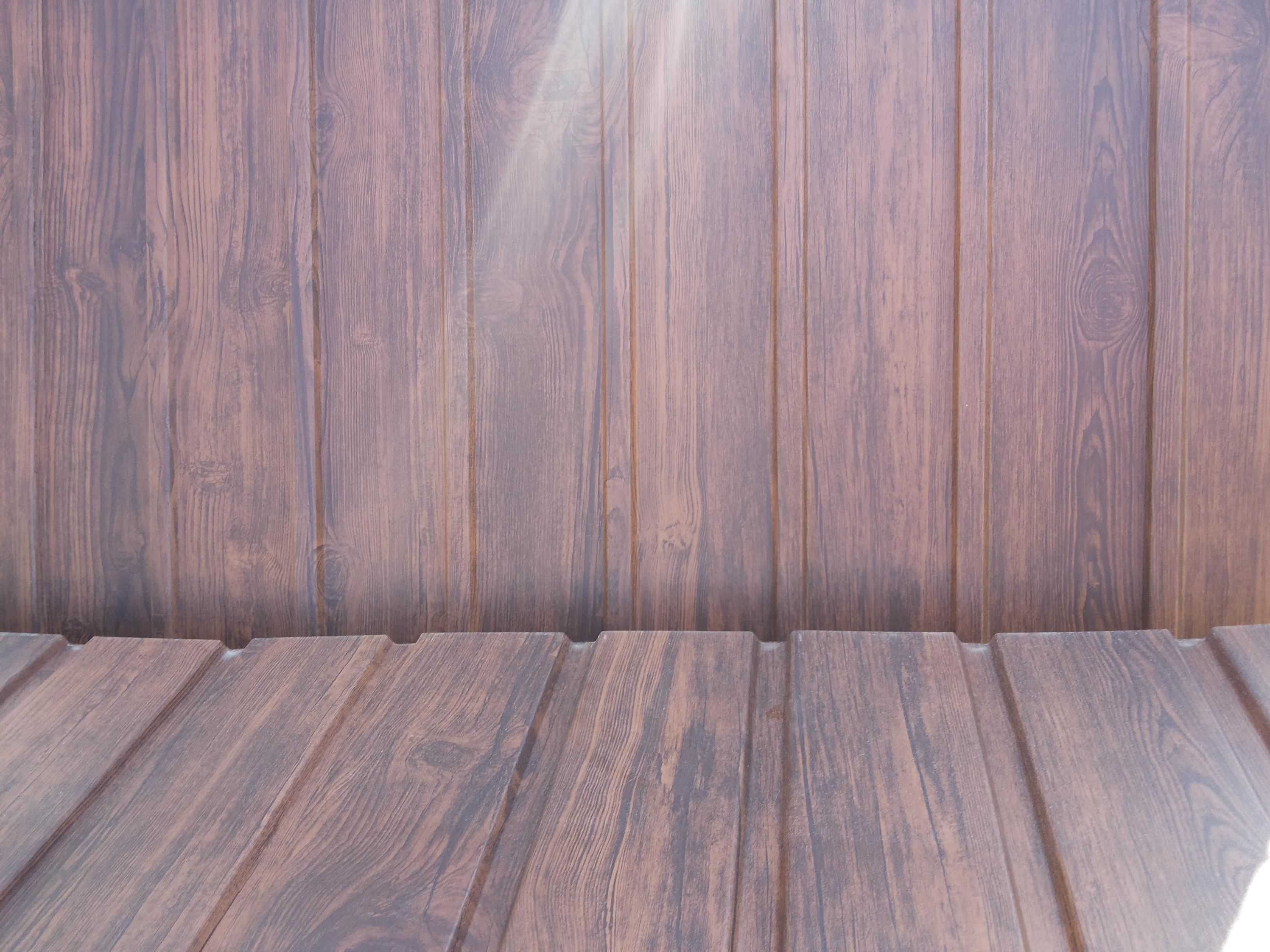 Kétoldalas famintás trapézlemez Dió színben