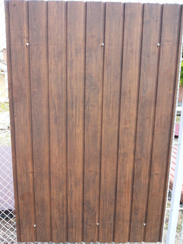 Egy oldaldalon famintás Dió trapézlemez 3180 Ft+Áfá/ m2